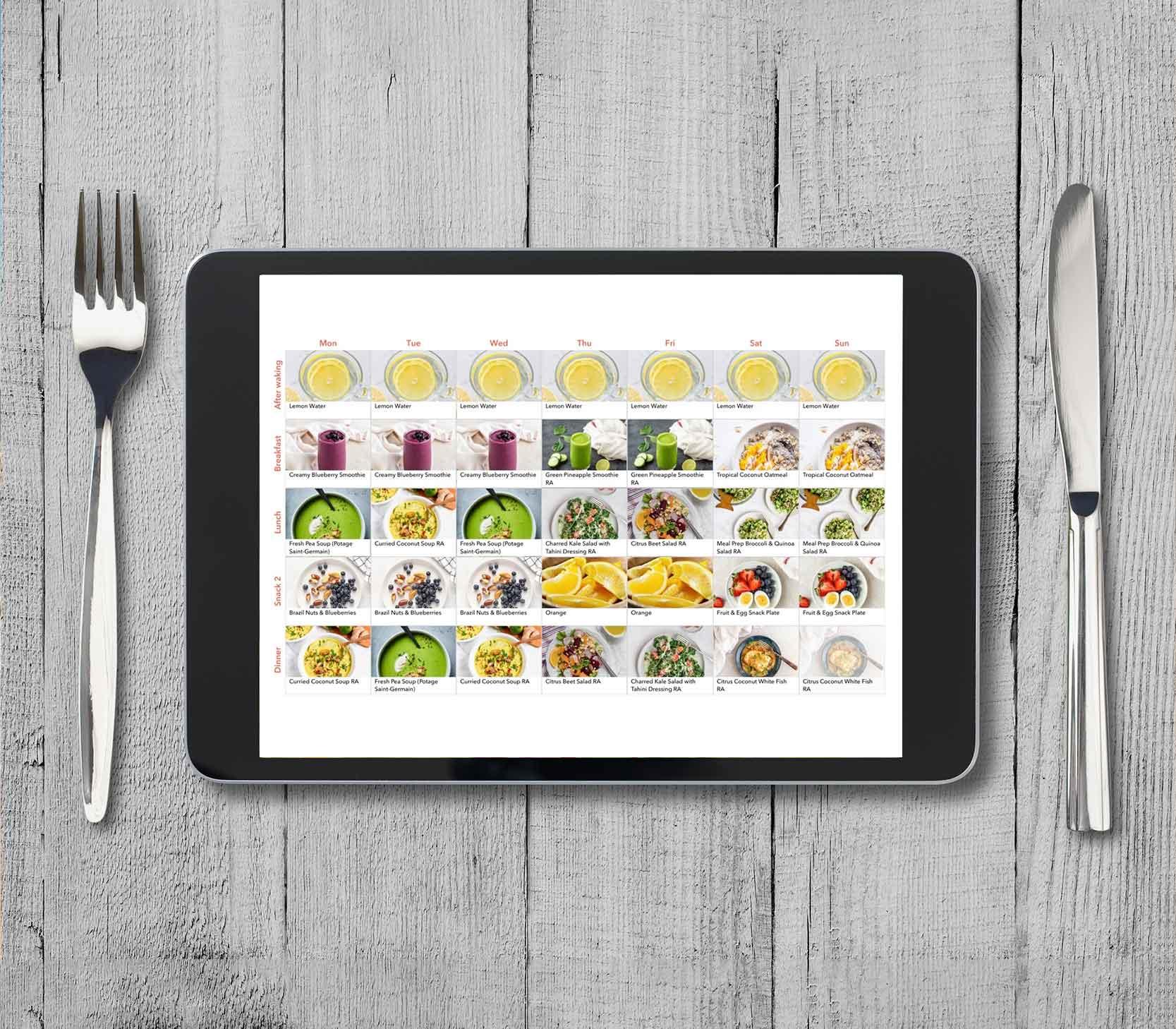 meal plan lose weight